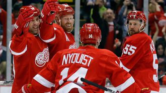 Red Wings forward Johan Franzen buys Gustav Nyquist an interesting gift