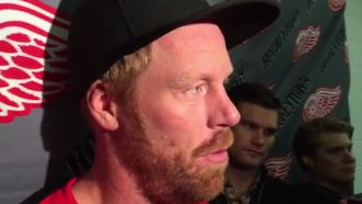 Red Wings Training Camp 9.18.15: Johan Franzen (VIDEO)