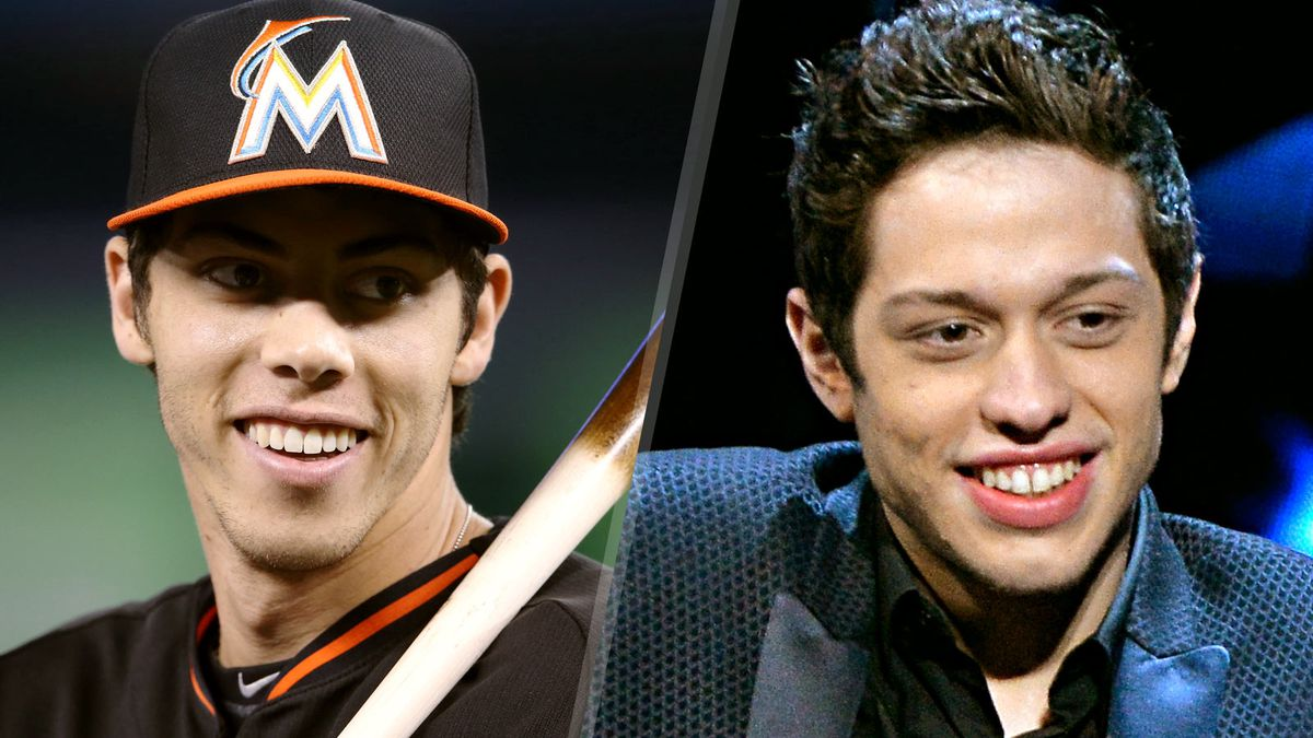 Surprise christian yelich with lookalike from snl fox sports