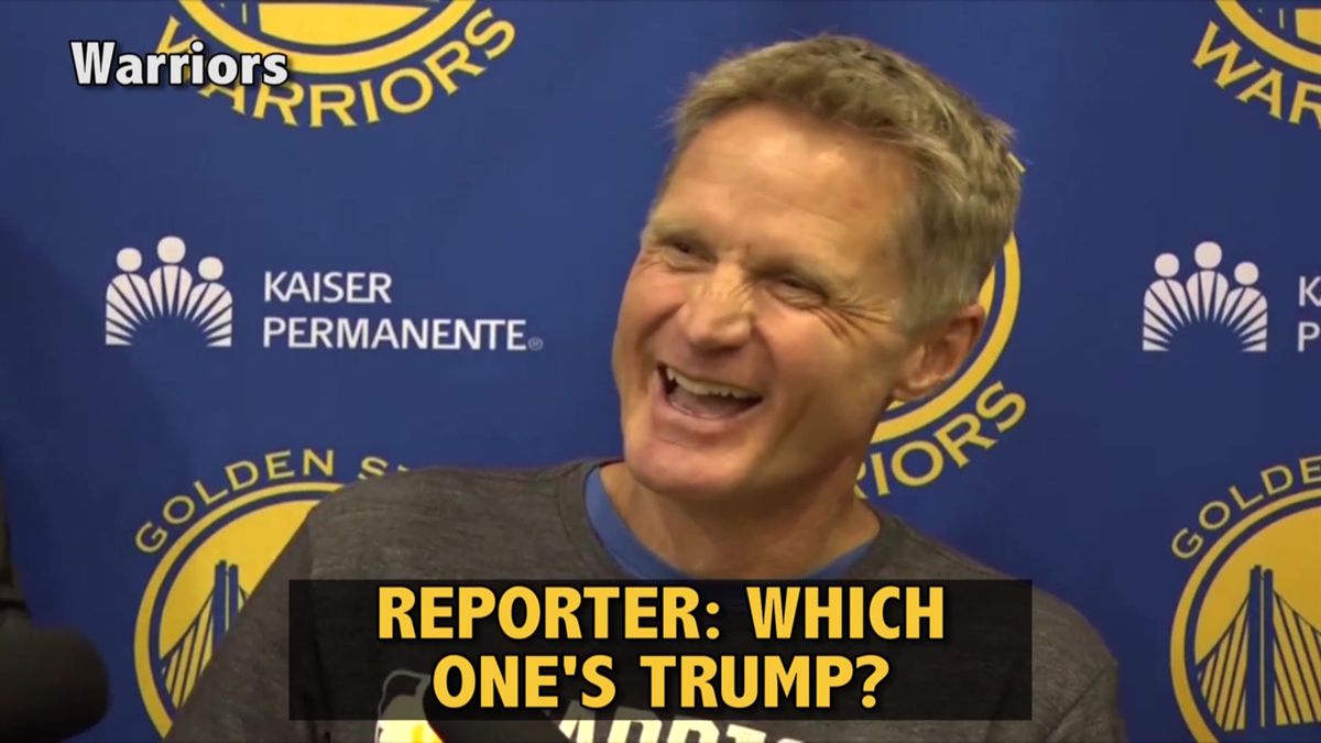 Kerr compares NBA MVP race to Presidential race
