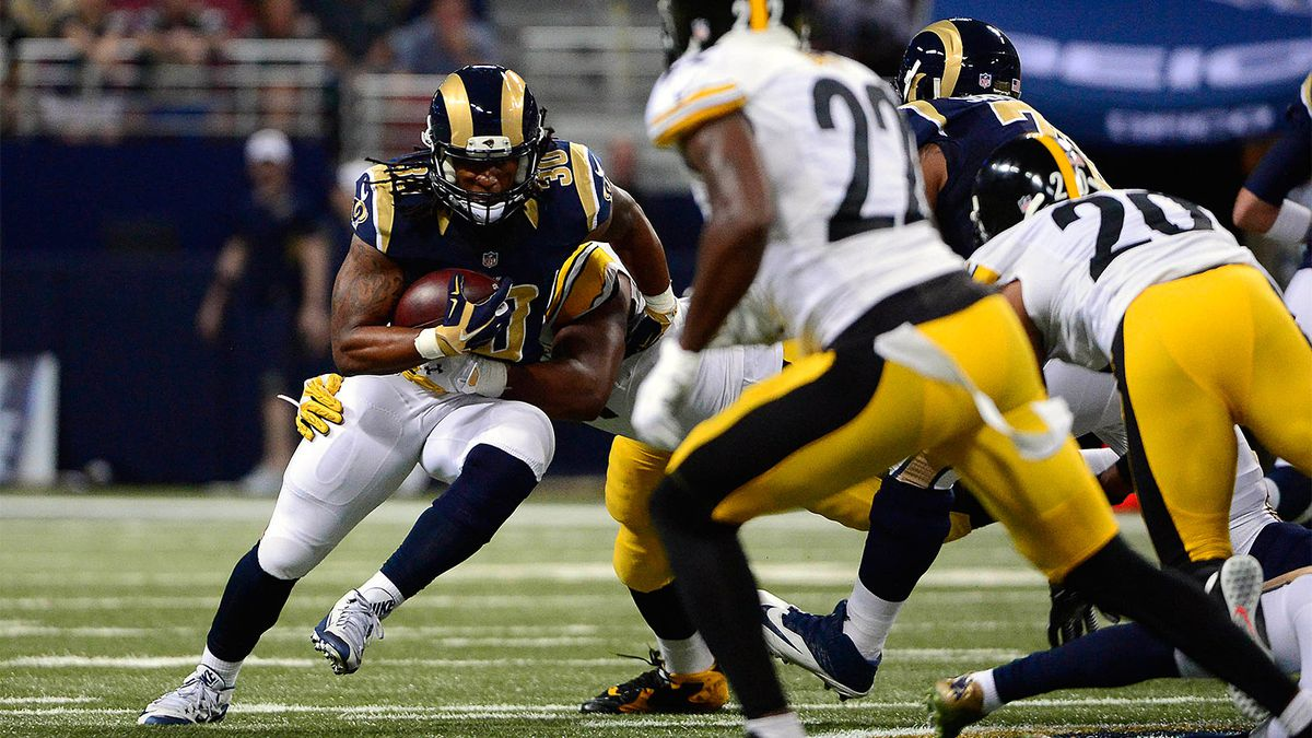 Fisher gurley close to busting off some big runs in nfl debut fox sports Gurley motor